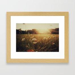 Grainy Love-w/text Framed Art Print