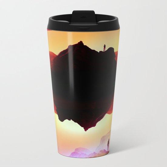 Vibrant Isolation Island Metal Travel Mug