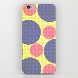 A-mazed circles iPhone Skin