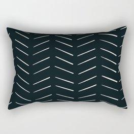 MOD_RepeatBrokenArrows_Charcoal Rectangular Pillow