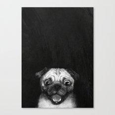 Snuggle pug Canvas Print
