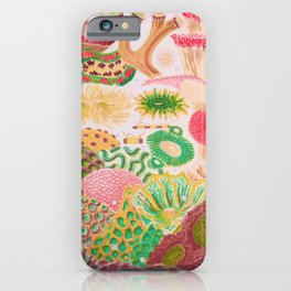 Colorful Coral Vintage Sea Life Illustration iPhone Case