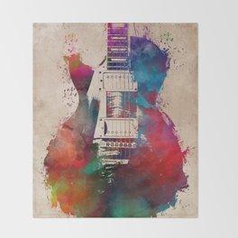 guitar art #guitar Throw Blanket