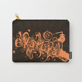 """Typography Spill """"Natural"""" Carry-All Pouch"""