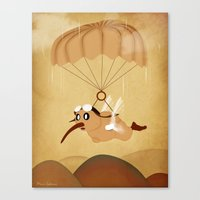kiwi Canvas Prints featuring kiwi by mark ashkenazi