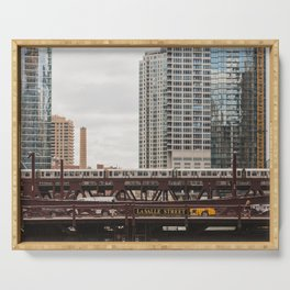 LaSalle Street - Chicago Photography Serving Tray