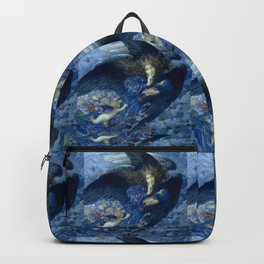 """Edward Robert Hughes (1912) """"Night with her train of stars"""" Backpack"""
