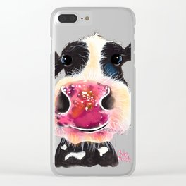 NoSeY CoW ' BuBBLeS ' BY SHiRLeY MacARTHuR Clear iPhone Case