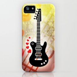 A Guitar for a Love Serenade iPhone Case