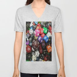 Dungeons and Dragons Dice Unisex V-Neck