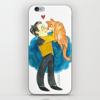 data iPhone & iPod Skins featuring Data Hug by Super Group Hugs