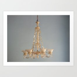 chandelier lighting cuba travel photograph Art Print