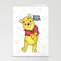pooh Stationery Cards featuring Winnie the Pooh by laura nye.