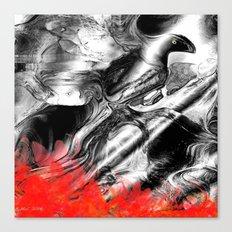 Abstract Fire Bird Canvas Print