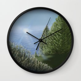 Majestic A Golf Course View Wall Clock