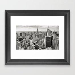 Manhattan City Skyline Framed Art Print