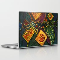 sparkles Laptop & iPad Skins featuring GALAXY SPARKLES by Deyana Deco