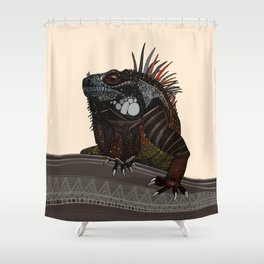iguana ecru Shower Curtain