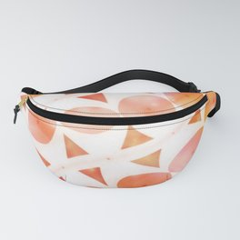 Geometric Shaded Tangerines Fanny Pack