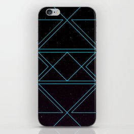 Blue Electro Space iPhone Skin