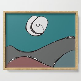 Night Time Moon Serving Tray