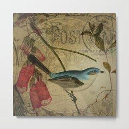EPHEMERA Birds Pair 1b Metal Print