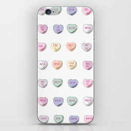 Candy Hearts iPhone Skin