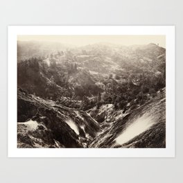 Devil's Canyon, geysers, looking down Art Print