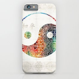 Yin And Yang - Colorful Peace - By Sharon Cummings iPhone Case