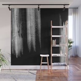 Black And White Bokeh Stripes Brush Strokes - Gothic Glam - Abstract - Corbin Henry Wall Mural