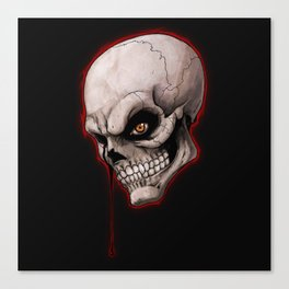 Skeletal Teardrop Canvas Print