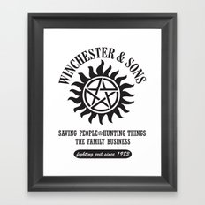 SUPERNATURAL WINCHESTER AND SONS Framed Art Print