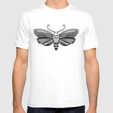 Acherontia X-LARGE Mens Fitted Tee White