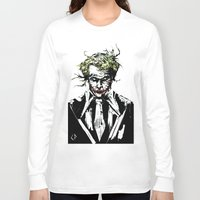 joker Long Sleeve T-shirts featuring Joker. by CJ Draden
