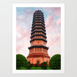 Beautiful Vietnam Pagoda Art Print