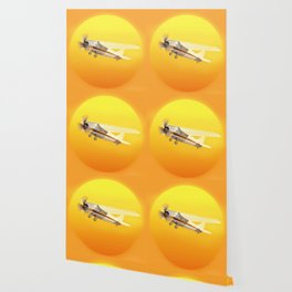 Bright Yellow Sun Wallpaper
