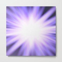 Violet light rays Metal Print