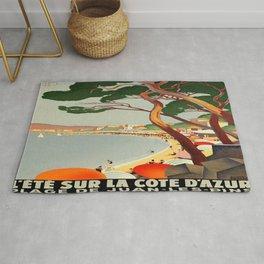 Vintage poster - Cote D'Azur, France Rug