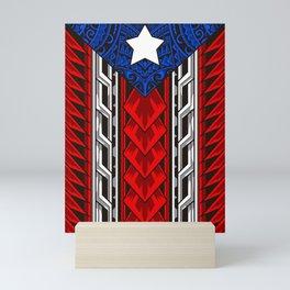 Puerto Rican Tribal Flag - Modern Boricua Mini Art Print