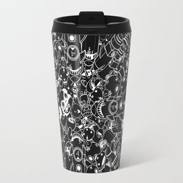 For Good For Evil - Black on White Travel Mug