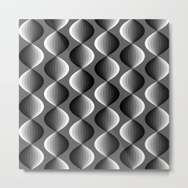 Abstract geometric grayscale pattern  Metal Print