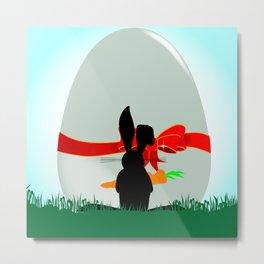 Amazed Rabbit Metal Print