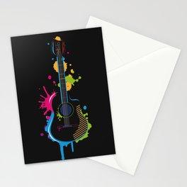 Graffiti guitar Stationery Cards