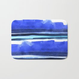 Wave Stripes Abstract Seascape Bath Mat