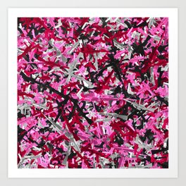 Pink guns camo Art Print