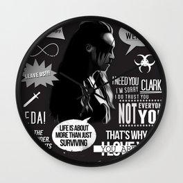 Commander Lexa - The 100 - Clexa Wall Clock
