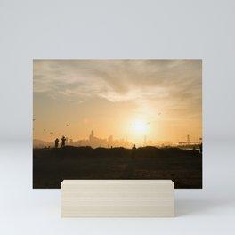 Sunset over San Francisco skyline Mini Art Print