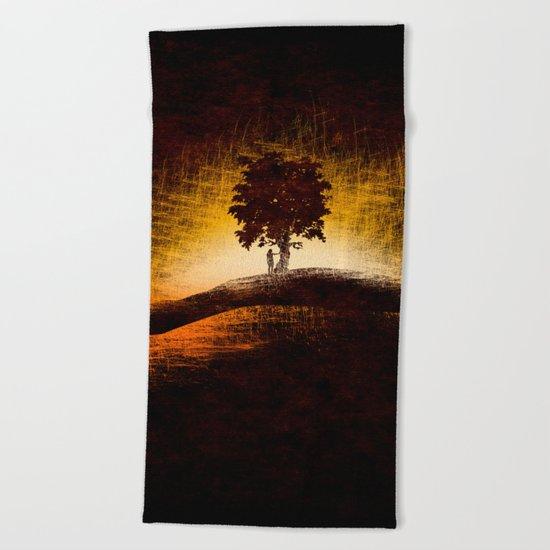 i love trees Beach Towel