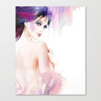 naked Canvas Prints featuring naked by tatiana-teni