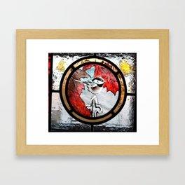 Bird in Fall Framed Art Print
